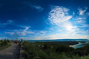 Виртуальная панорама Жигулевских гор. Вид с вертолетной площадки